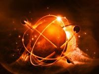 Planet with pulse and fire